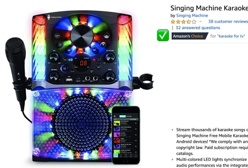 Sleepover Ideas Rock n Rest Karaoke Machine karaoke machine with different color lights