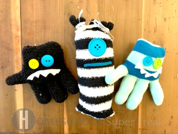 Easy No Sew Monsters Craft