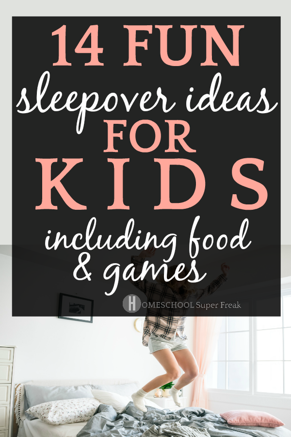 14 Crazy Cool Summer Sleepover Ideas for Kids (You Never Thought Of) kid jumping on bed