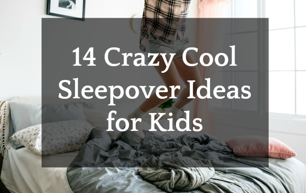 Best Sleepover Ideas for Kids kid legs jumping on bed