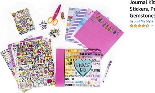 Sleepover Ideas: Scrapbooking scrapbooking set with paper scrapbook scissors stickers