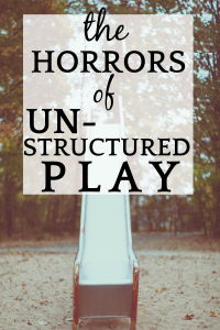 Horrors of Unstructured Play empty playground slide