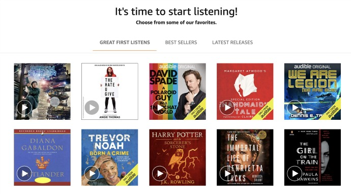 Audible Audio Books (66% OFF)