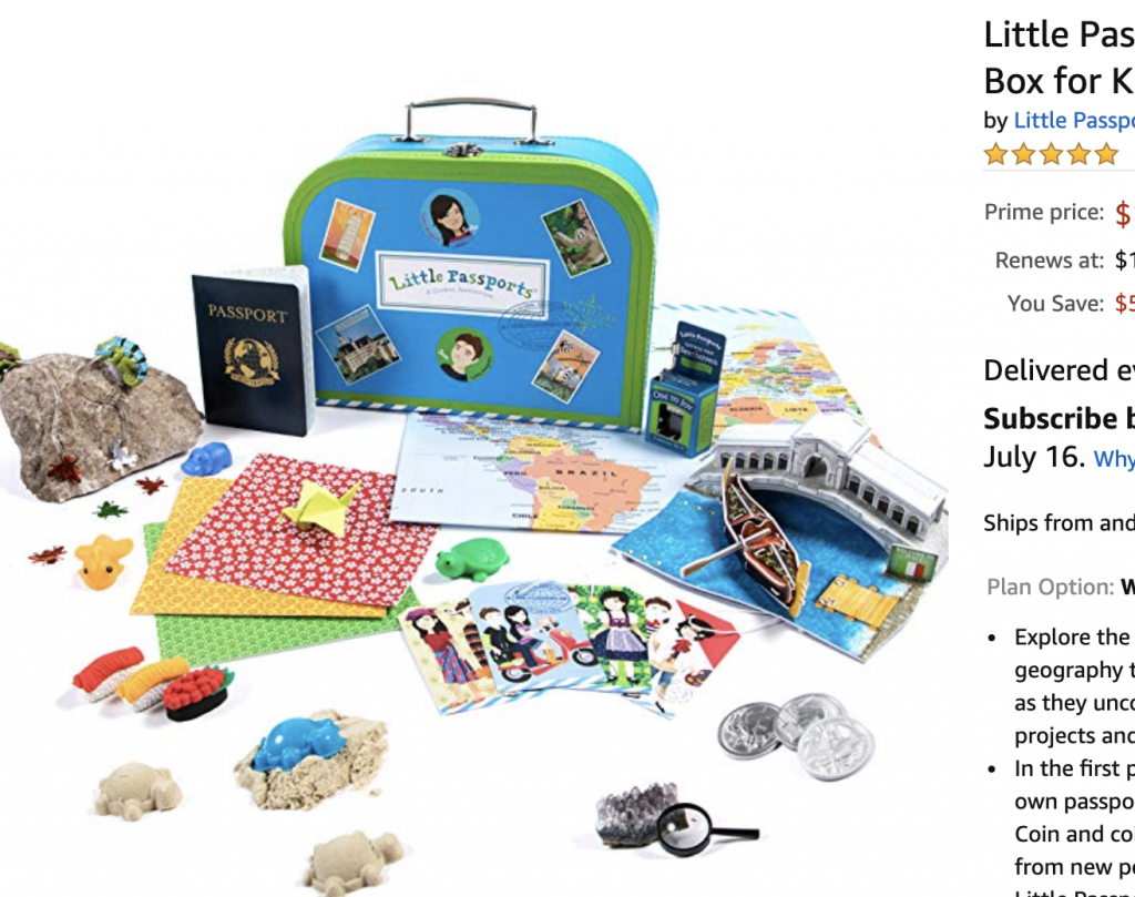 Monthly Subscription Boxes for Kids: Little Passports