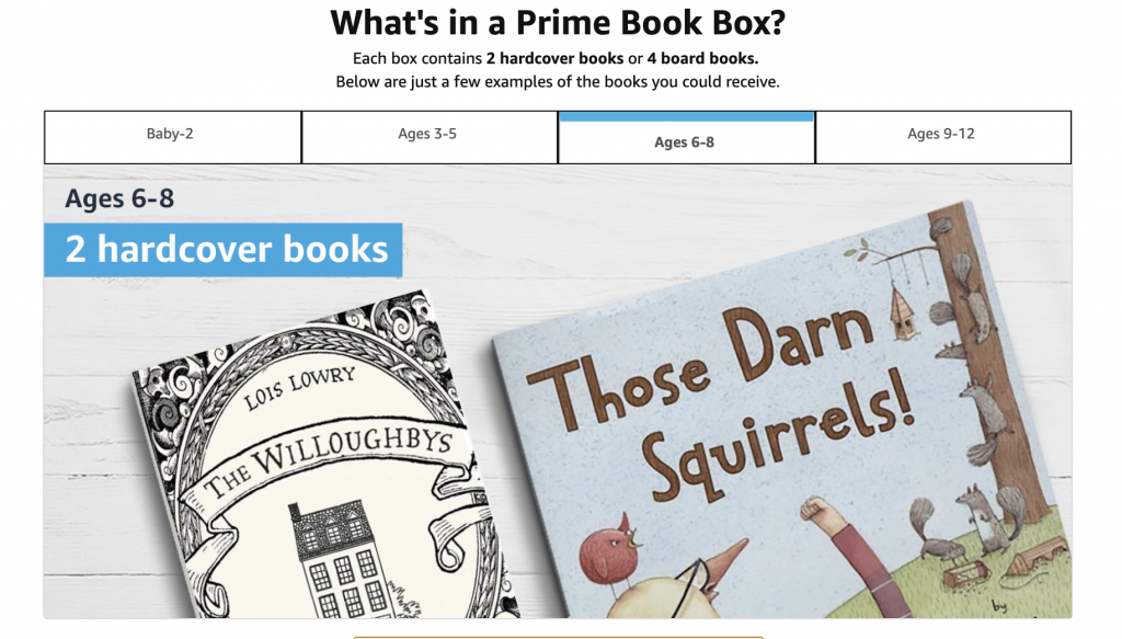 Prime Book Box Subscription Box for Kids