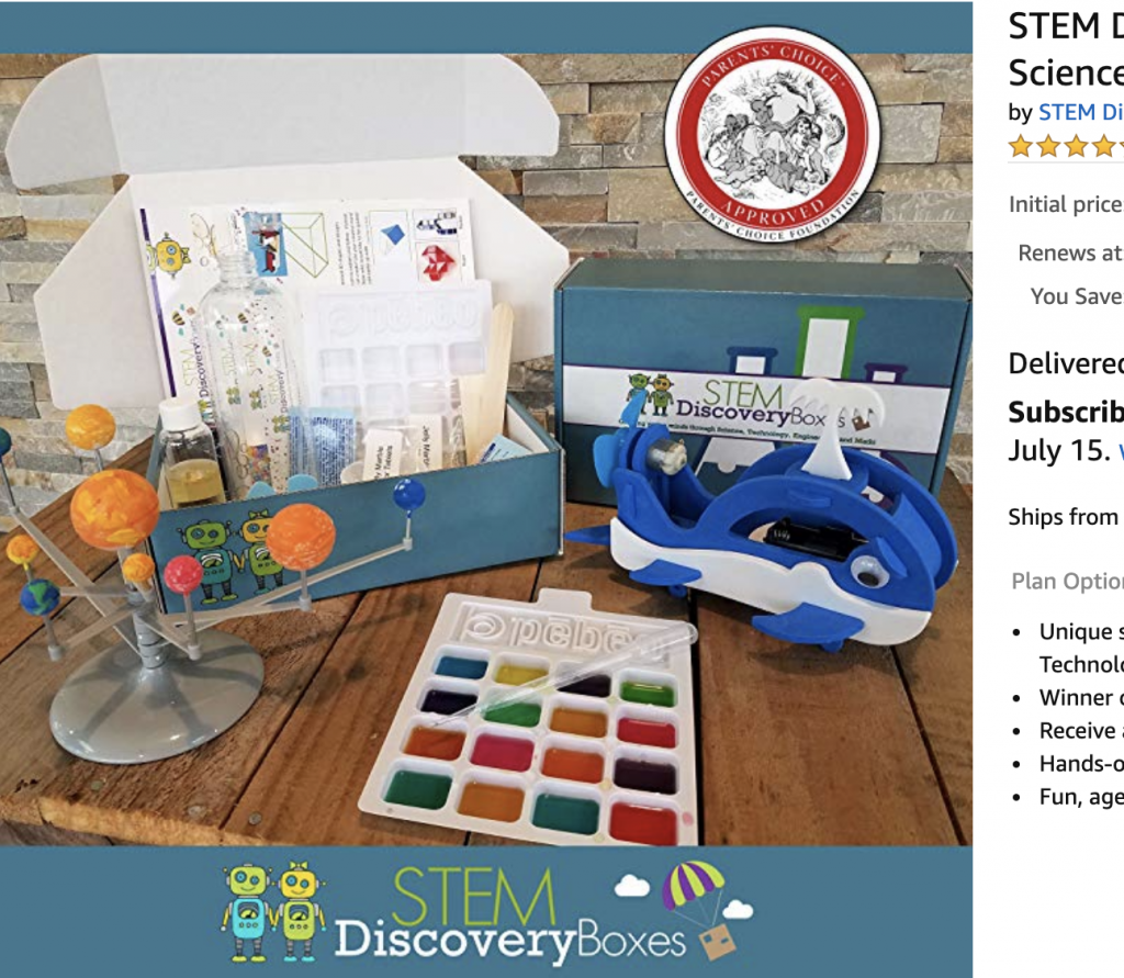 STEM Discovery Boxes Monthly Subscription Boxes for Kids