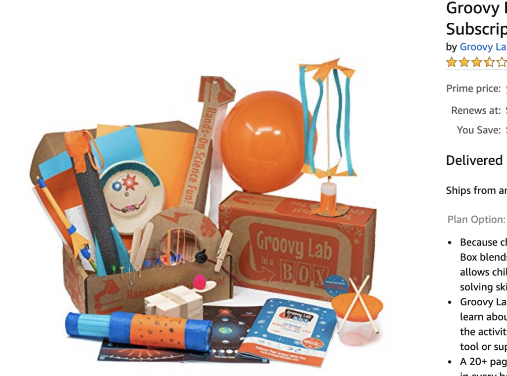 Subscription Box for Kids: Groovy Lab in a Box