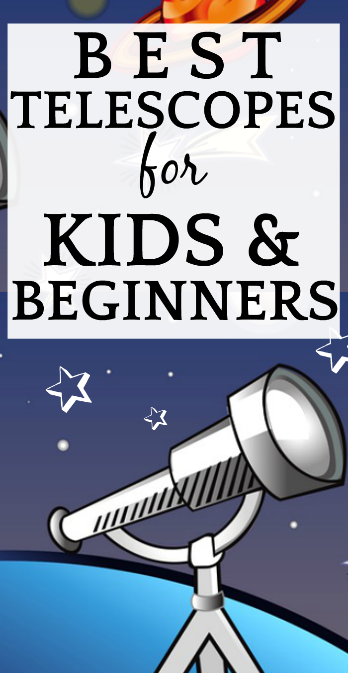 Best Telescope for Beginners and Kids: Reviews, Comparisons, Recommendations cartoon telescope with stars and planets in the sky