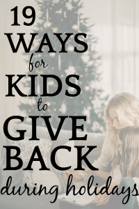 19 Family Ideas for Service Projects During Holidays
