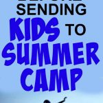 Kids Summer Camp tips text over a boy jumping into a lake