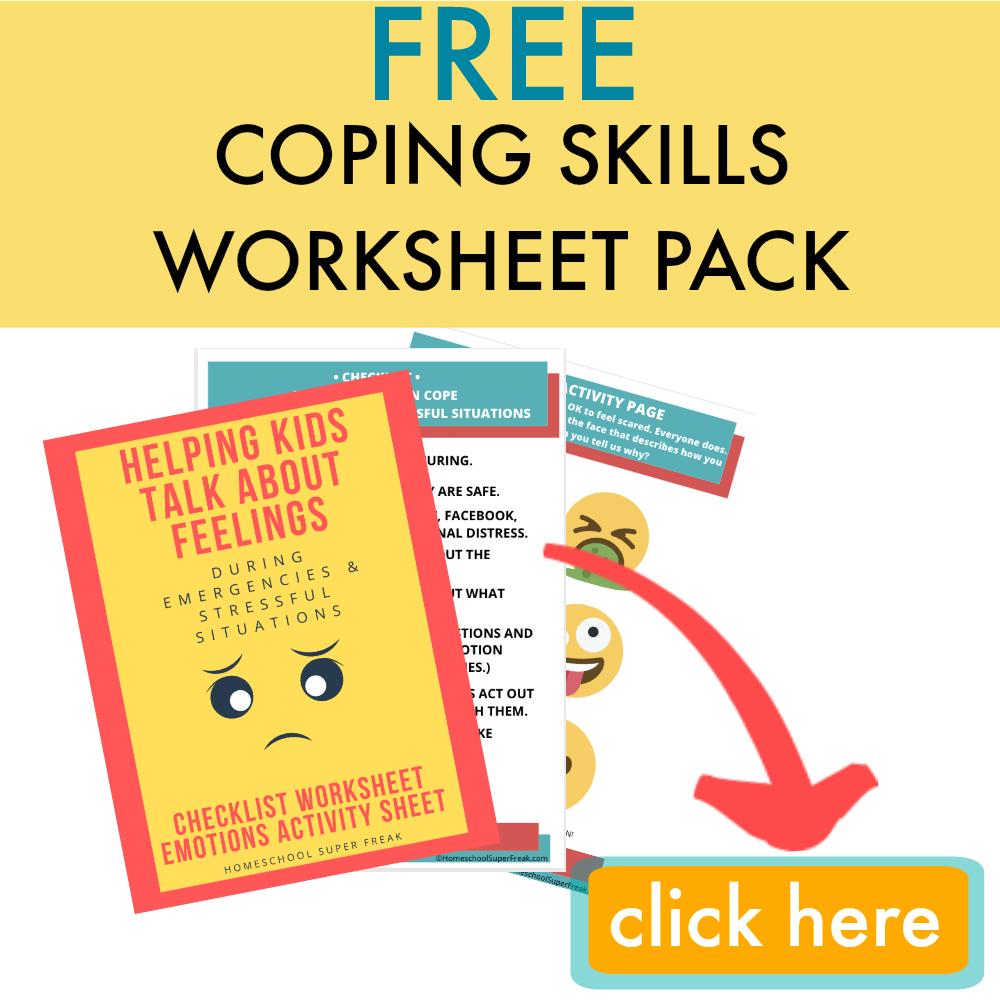 FREE COPING SKILLS WORKSHEET PACK