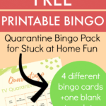 Free Printable Bingo Cards For Stuck At Home