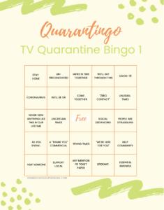 Quarantingo: Free Printable Bingo Cards